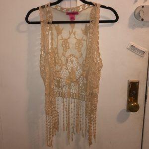 Betsy Johnson - crochet vest